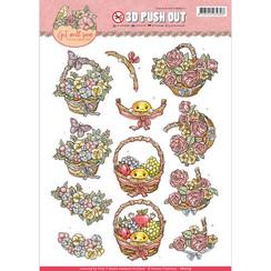 SB10175 - Uitdrukvel - Yvonne Creations - Get Well Soon - fruit basket