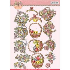 CD10898 - 10 stuks knipvellen - yvonne creations - Get Well Soon - fruit basket