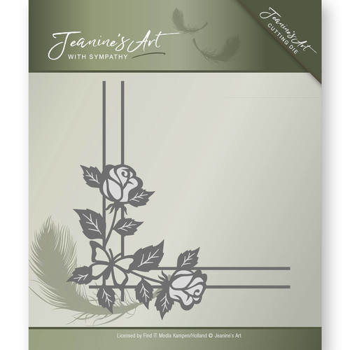 Jeanines Art JAD10014 - Mal - Jeanines Art- With Sympathy - Rose Corner