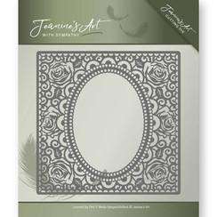 JAD10011 - Mal - Jeanines Art- With Sympathy - Rose Frame