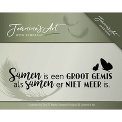 JACS10005 - Stempel - Jeanines Art- With sympathy