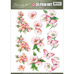 SB10179 - Uitdrukvel - Jeanines Art- With Sympathy -  pink flowers