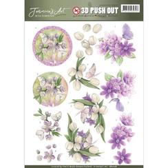 SB10178 - Uitdrukvel - Jeanines Art- With Sympathy - violet flowers