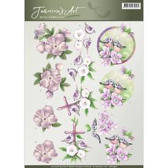 CD10916 - 10 stuks knipvellen - Jeanines Art- With Sympathy - Birds and Flowers