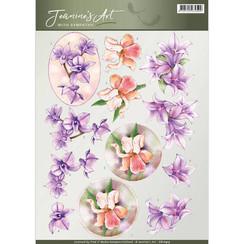 CD10915 - 10 stuks knipvellen - Jeanines Art- With Sympathy -Sympathy Flowers