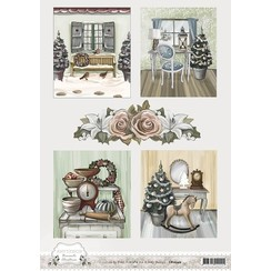 CD10540 - 10 stuks knipvellen - Amy Design - Brocante Christmas - Pictures