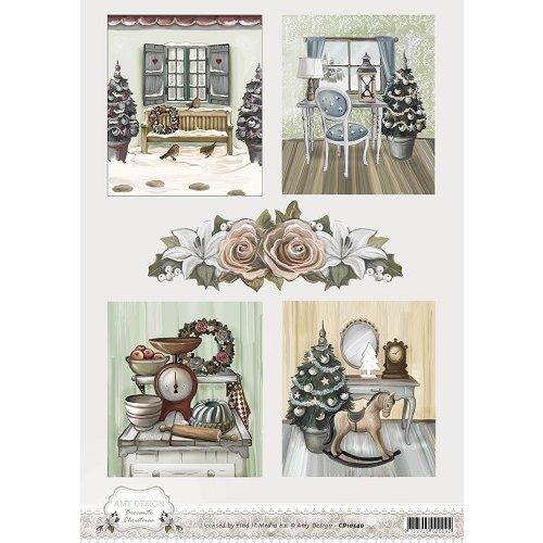 Amy Design CD10540 - 10 stuks knipvellen - Amy Design - Brocante Christmas - Pictures