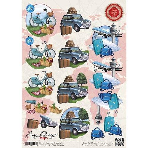 Amy Design CD10504 - 10 stuks knipvellen - Amy Design - Maps - Vliegvakantie