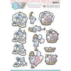 SB10031 - Uitdrukvel - Yvonne Creations - Smiles Hugs and Kisses