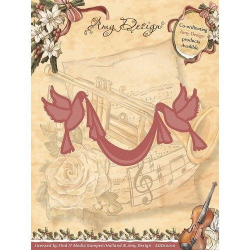 Amy Design ADD10010 - Mal - Amy Design - Vintage Christmas Collection Mal - Doves with Sash