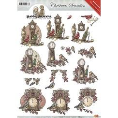 CD10317 - 10 stuks knipvellen - Yvonne Creations - Christmas Sensation - Kerstklokken