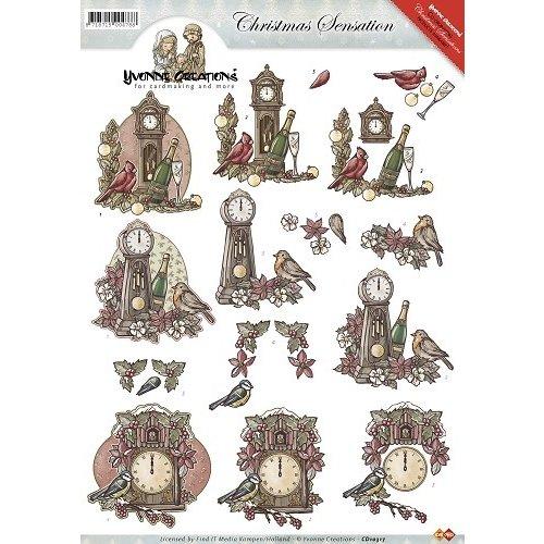 Yvonne Creations CD10317 - 10 stuks knipvellen - Yvonne Creations - Christmas Sensation - Kerstklokken