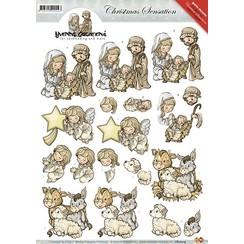 CD10314 - 10 stuks knipvellen - Yvonne Creations - Christmas Sensation - Kerststal