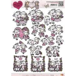 CD10245 - 10 stuks knipvellen - Yvonne Creations - Love Collection - Happy couple