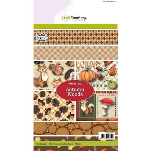 CraftEmotions 118040/0110 - CraftEmotions Paper stack Autumn Woods 32 vel A5