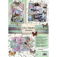 118040/0202 - CraftEmotions Paper stack Life and Garden 11 vel A4