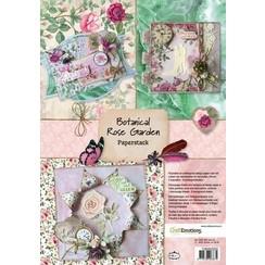 118040/0203 - CraftEmotions Paper stack Botanical Rose Garden 11 vel A4
