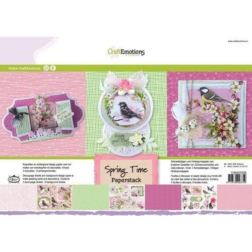 CraftEmotions 118040/0208 - CraftEmotions Paper stack Spring Time 11 vel A4