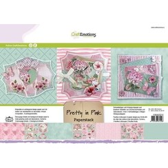 118040/0210 - CraftEmotions Paper stack Pretty in pink 11 vel A4