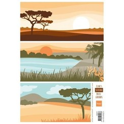 AK0071 - Knipvel A4 Eline savanne background
