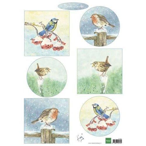 Marianne Design IT605 - Knipvel A4 Tiny's birds in winter