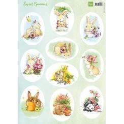 VK9575 - Knipvel A4 Sweet Bunnies