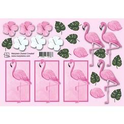 8717853321368 - Marjoleine's 3D Knipvellen - flamingo A4