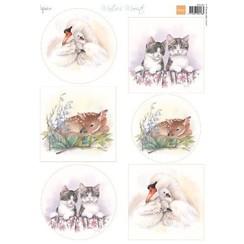 MB0183 - Knipvel A4 Mattie's Mooiste baby animals