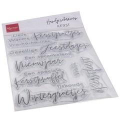 CS1067 - Clear Stamps - Handgeschreven - Kerst