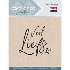 CDECS025 - Card Deco Essentials - Clear Stamps - Veel Liefs