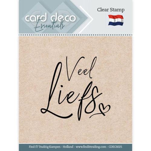 Card Deco CDECS025 - Card Deco Essentials - Clear Stamps - Veel Liefs