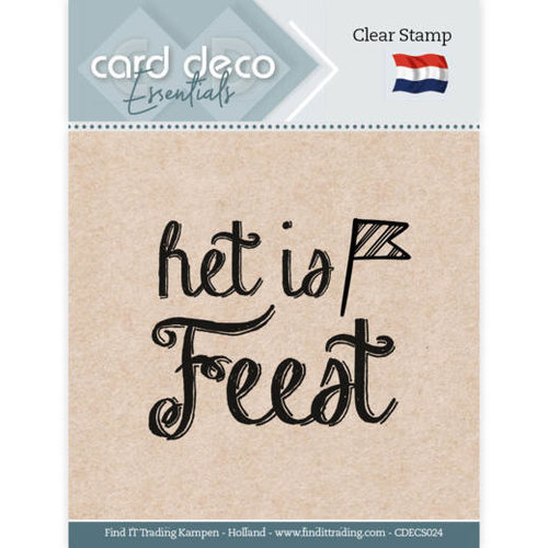 Card Deco CDECS024 - Card Deco Essentials - Clear Stamps - Het is Feest