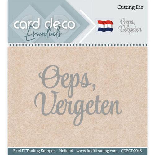 Card Deco CDECD0048 - Card Deco Essentials - Cutting Dies - Oeps, vergeten