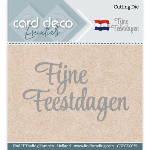 Card Deco CDECD0035 - Card Deco Essentials - Cutting Dies - Fijne Feestdagen
