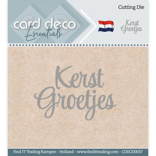 Card Deco CDECD0037 - Card Deco Essentials - Cutting Dies - Kerst Groetjes