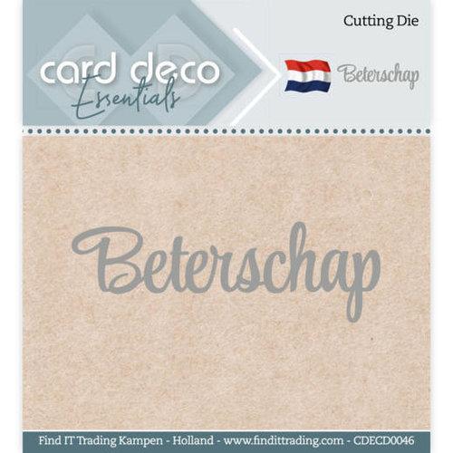 Card Deco CDECD0046 - Card Deco Essentials - Cutting Dies - Beterschap