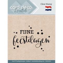 CDECS010 - Card Deco Essentials - Clear Stamps - Fijne Feestdagen