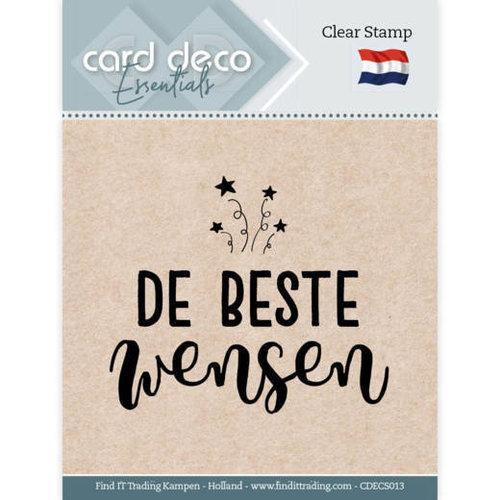 Card Deco CDECS013 - Card Deco Essentials - Clear Stamps - De Beste Wensen