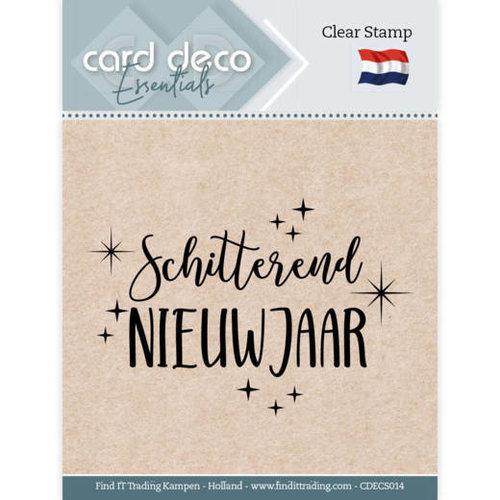 Card Deco CDECS014 - Card Deco Essentials - Clear Stamps - Schitterend Nieuwjaar