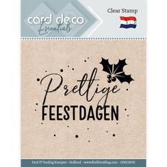 CDECS016 - Card Deco Essentials - Clear Stamps - Prettige Feestdagen