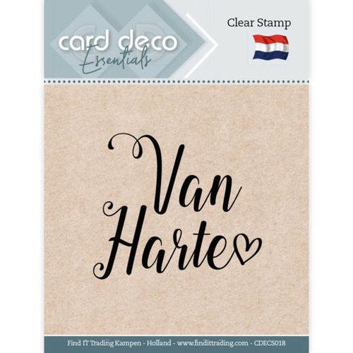 Card Deco CDECS018 - Card Deco Essentials - Clear Stamps - Van Harte
