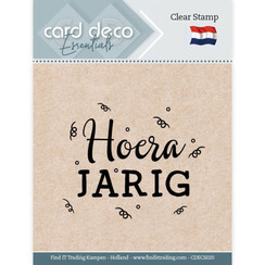 CDECS020 - Card Deco Essentials - Clear Stamps - Hoera Jarig