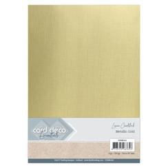 CDEML002 - Card Deco Essentials - Metallic Linnenkarton - Metallic Gold