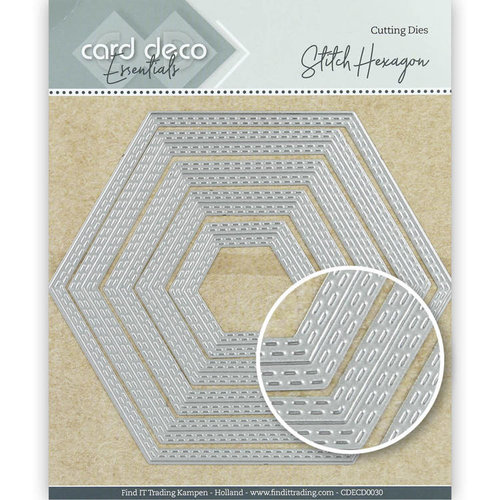 Card Deco CDECD0030 - Card Deco Essentials Cutting Dies Stitch Hexagon