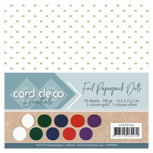 Card Deco CDEPP004 - Card Deco Essentials - Foil Paperpack Dots