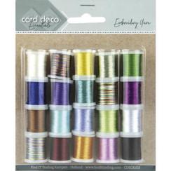 CDEGK003 - Card Deco Essentials - Embroidery yarn mix 03