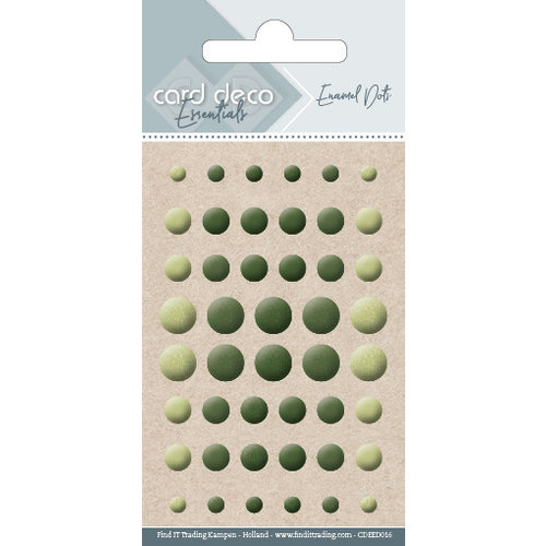 Card Deco CDEED016 - Card Deco Essentials - Enamel Dots Pearl Yellow Green