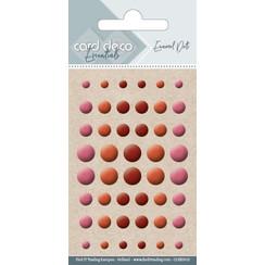 CDEED015 - Card Deco Essentials - Enamel Dots Pearl Bordeaux