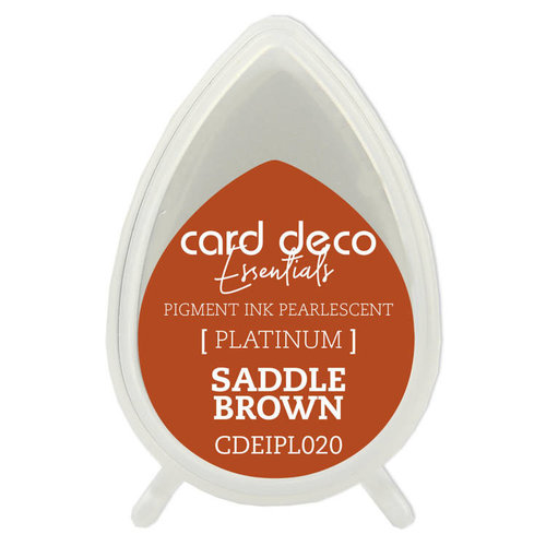 Card Deco CDEIPL020 - Card Deco Essentials Fast-Drying Pigment Ink Pearlescent Saddle Brown
