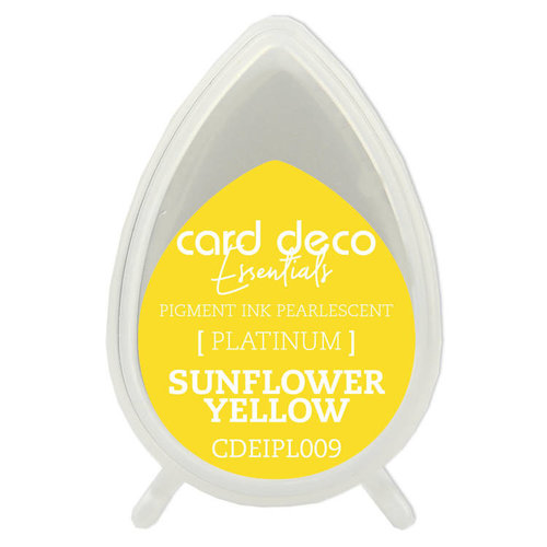 Card Deco CDEIPL009 - Card Deco Essentials Fast-Drying Pigment Ink Pearlescent Sunflower Yellow